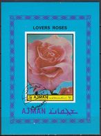 1972 Ajman IMPERIAL ROSES Souvenir Sheets  Non-perforated Used - Ajman