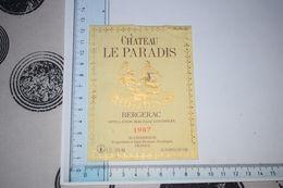Château Le Paradis Bergerac 1987 M. Chambaud Saint-Perdoux Dordogne Couple Dorée - Bergerac