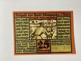 Allemagne Notgeld Sommerda 25 Pfennig - [ 3] 1918-1933 : Weimar Republic
