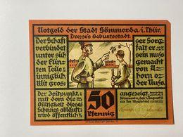 Allemagne Notgeld Sommerda 50 Pfennig - [ 3] 1918-1933 : Weimar Republic