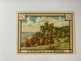 Allemagne Notgeld Treffurt 50 Pfennig - [ 3] 1918-1933 : Weimar Republic