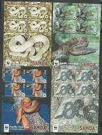 SAMOA - MNH - Animals - Reptiles - Snakes - WWF - Serpents