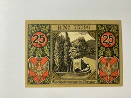 Allemagne Notgeld Wetzlar 25 Pfennig - [ 3] 1918-1933 : Weimar Republic