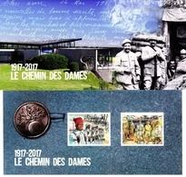 France 2017 - Souvenir Philatélique Le Chemin Des Dames ( édition Limitée ) - 2010-... Illustrated Franking Labels