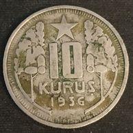 TURQUIE - TURKEY - 10 KURUS 1936 - KM 863 - Turquie