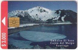 CHILE A-073 Chip CTC - Landscape, Dam - Used - Chili