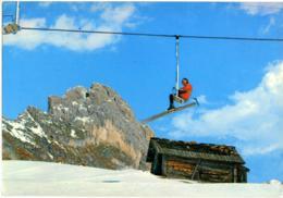 FERMEDA  VAL GARDENA  BOLZANO  Monte  Rifugio  Seggiovia Skilift  Sci  Ski  Annullo Mess. Brennero-Bologna - Bolzano (Bozen)