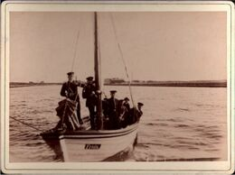 ! 2 Alte Fotos Auf Hartpappe, Photos, Hela, Westerplatte Danzig, 1895, Format 9 X 12 Cm - Danzig