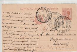 Terranova Pausania. 1923. Annullo Frazionario (58 - 97), Su Cartolina Postale - Marcofilía
