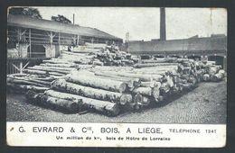 +++ CPA - LIEGE - Carte Publicitaire - Publicité G.Evrard & Cie - Bois  // - Liège