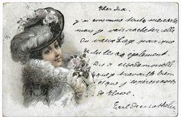 CP De Carl (?) De Gerlache à Isabelle De Mathelin Au Château De Messancy 1901 - Messancy