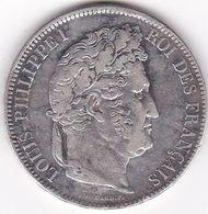 5 FRANCS LOUIS PHILIPPE  EN ARGENT    1833  W - J. 5 Francs