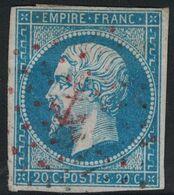 EMPIRE - N°14 - OBLITERATION - LOSANGE ANCRE - ROUGE - PAS COURANT. - 1849-1876: Periodo Clásico