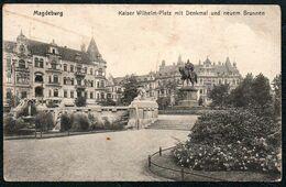 D8616 - Magedburg - Kaiser Wilhelm Platz Denkmal Brunnen - Magdeburg
