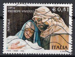 """Italia 2002 Uf. 2696 """"Presepe Vivente Di Oria"""" - Natale Christmas - Viaggiato Used - Cristianesimo"""
