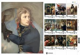 Ukraine 2020, Emperor Napoleon Bonaparte In Painting, Sheetlet Of 9v - Ukraine