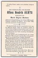 Dp. Aerts Alfons. Echtg. Mertens Maria. ° Leopolsburg 1887 † Olmen 1948 - Godsdienst & Esoterisme