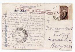 1920 KINGDOM OF SHS,SLOVENIA,SVETI JANEZ OB BOHINJSKEM JEZERU,CHAIN BREAKERS,VERIGARI,LJUBLJANA,USED ILUSTR.POSTCARD - Yugoslavia