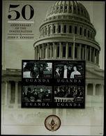 UGANDA 2012 50 ANNIVERSARY OF THE INAUGURATION JONH F. KENNEDY MINI SHEET MI No 2834-7 MNH VF!! - Kennedy (John F.)
