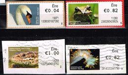 Irland ATM,Michel# 19, 26, 56, 58 O Tiere - Viñetas De Franqueo (Frama)