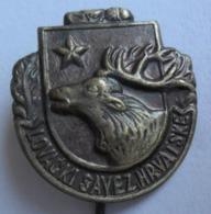 HRVATSKI LOVACKI SAVEZ, CROATIAN Hunting Association DEER   PINS BADGES P4/5 - Pin's