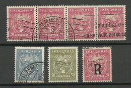 COLOMBIA KOLUMBIEN SCADTA 1929 Lot O/* From Michel 47 - 60 - Colombia