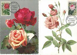 France Cartes Max 1er Jour YT 1356/7 Roses 08/09/62 - 1960-1969