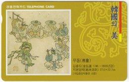 SOUTH KOREA B-521 Magnetic Telecom - Culture, Painting - Used - Corea Del Sud