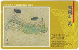 SOUTH KOREA B-523 Magnetic Telecom - Culture, Painting - Used - Corea Del Sud