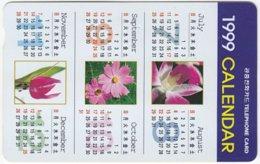 SOUTH KOREA B-528 Magnetic Telecom - Plant, Flower - Used - Corea Del Sud