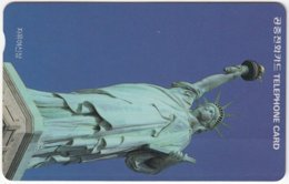 SOUTH KOREA B-545 Magnetic Telecom - Landmark, Statue Of Liberty, New York - Used - Corea Del Sud