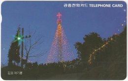 SOUTH KOREA B-579 Magnetic Telecom - Occasion, Christmas - Used - Corea Del Sud