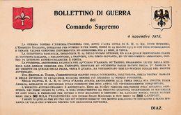 BOLLETTINO DI GUERRA DEL COMANDO SUPREMO - ASSOCIAZIONE NAZIONALE TRENTO - TRIESTE - 1914-18