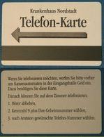 RRR: Alcatel Cardboard Magnetic Phonecard For Use In HOSPITAL Only___Krankenhaus Nordstadt Hannover Germany (no Test) - Allemagne