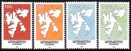 SVALBARD SPITSBERGEN 2020 DEFINITIVES MAPS MNH LOCAL STAMPS / ARCTIC TERRITORY POLAR NORTH POLE - Polar Philately