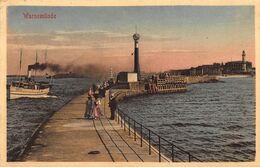 WARNEMUNDE GERMANY~SEEBRÜCKE-PIER-STEAMER SHIP-LIGHTHOUSE~1910 PHOTO POSTCARD 48188 - Other