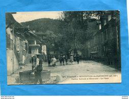 Monestier-de-clermont-beau Plan-la Place Et La Fontaine- -animée-a Voyagé En 1924-édition Gaude - Otros Municipios