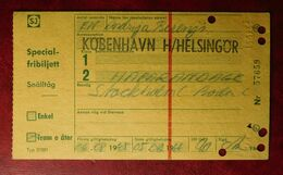 KOBENHAVN H/HELSINGOR - 06.08.1965-05.08.1966 Special-fribiljett - Tickets D'entrée
