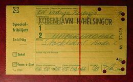 KOBENHAVN H/HELSINGOR - 06.08.1965-05.08.1966 Special-fribiljett - Eintrittskarten