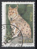 "Italia 2002 Uf. 2691 ""Ambiente E Natura : Lince"" - Viaggiato Used - Felini"