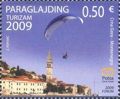 2009, Tourism, Paraglajding, Montenegro, MNH - Montenegro