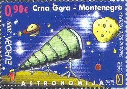 2009 EUROPA Stamps, Astronomy, Montenegro, MNH - Montenegro