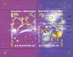 2009 EUROPA Block, Astronomy, Montenegro, MNH - Montenegro