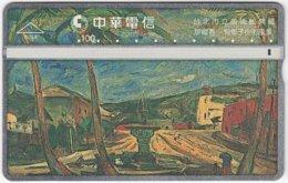 TAIWAN B-121 Hologram Chunghwa - Painting, View, Village - 855E - Used - Taiwan (Formosa)