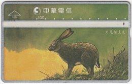 TAIWAN B-153 Hologram Chunghwa - Painting, Animal, Rabbit - 961E - Used - Taiwan (Formosa)