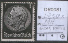 GERMANY REALM DR 512 X MARKENHEFTEN GRAY PAPER - Allemagne