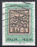 "Italia 2002 Uf. 2687 ""Primi Francobolli Stato Pontificio"" - Viaggiato Used - 2001-10: Usati"