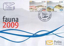 2009, FDC, Fish, Fauna, Montenegro, MNH - Montenegro