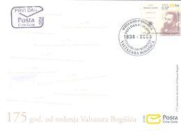2009, FDC, The 175th Anniversary Of The Birth Of Valtazar Bogišić, Montenegro, MNH - Montenegro