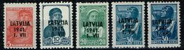 Lettland 1941,Michel# 1,2, 4, 5 ** - Latvia